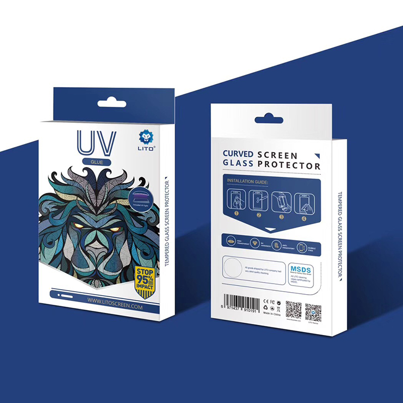 samsung galaxy s9 uv light full adhesive tempered glass